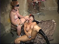 Submissive whore gets gagged and bound