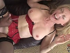 Mature mother Nina Hartley owned by BBC