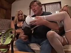 Kinky MILF's Give Great Footjob