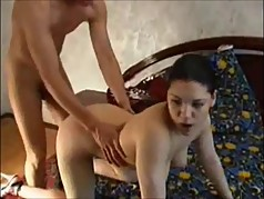 hot brunette tricked into homemade video