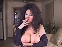 Hot Brunette Mature Smoking 120s Solo