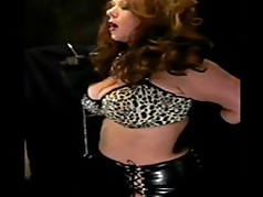 Hot Mature In Leather Smoking Solo