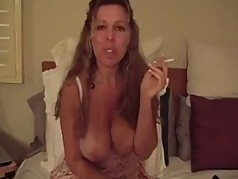 smoking bitch stroking cunt
