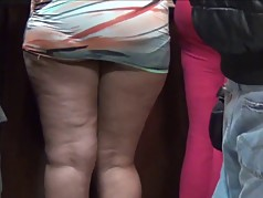 Thick Dominican in Mini Skirt