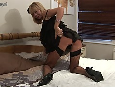 Hot skinny granny is still a dirty whore