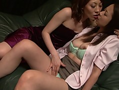 Sexy japanese lesbian duo getting very naughty
