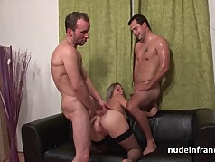 Amateur french milf deep analized and double penetrated
