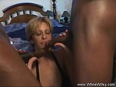 Blonde Wifey DP Anal Threesome With BBC