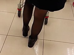 Chinese slut at supermarket