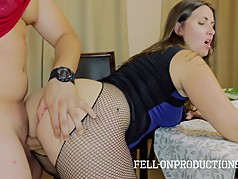 MILF Mom Fucking in Home for Christmas