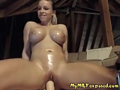 My MILF Exposed Busty MILF with shaved muff riding cock