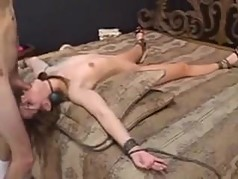 bound wife gets fucked and facialized