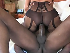 bbc stretches out wife 's pussy cowgirl style
