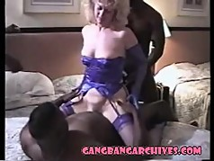 Interracial gangbang archive Retro MILF and BBC orgy