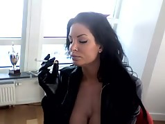 Milf Seductivley Smoking