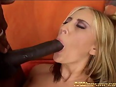 bbc fucking pink shaved pussy interracial sex blonde milf