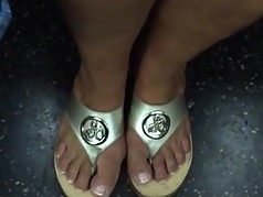 Sexy Mature Feet In Sandals (faceshot)