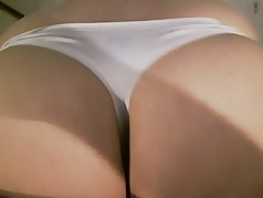 Wife riding whit thong. White