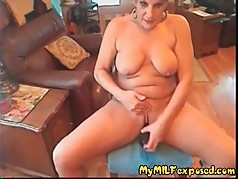 My MILF Exposed Amateur Granny with toy Do you know her