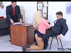 Blonde MILF in the Office