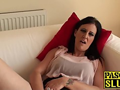 Hot and amazing brunette Missy K finger fucking her cunt