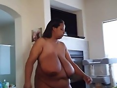Married Black BBW Caught Walking nude in the House