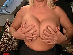 Huge Naturals - Boob Grabbing with Blonde MILF