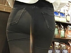 Tight jeans ass hidden cam