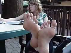 Blonde Girl Feet Soles
