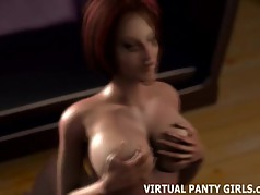 3D MILF gets a taste of the neighbor boys big cock
