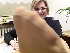 Mrs Teacher and her Nylonfeet 9