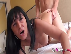 Insatiable brunette milf wants a young cock to be satisfied