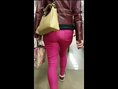 Big ass in pink pants