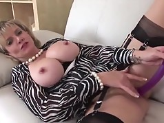 British MILF Shows Off Her New Toy