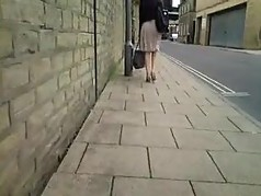 Caught Videoing Flouncy Skirt Bare Legged MILF